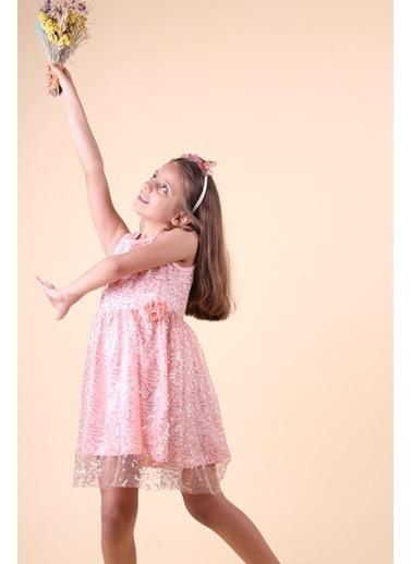 Breeze Kız Çocuk Pullu Elbise  Somon